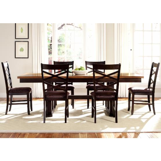 Liberty Furniture Bistro II 7 pc. Trestle Dining Set