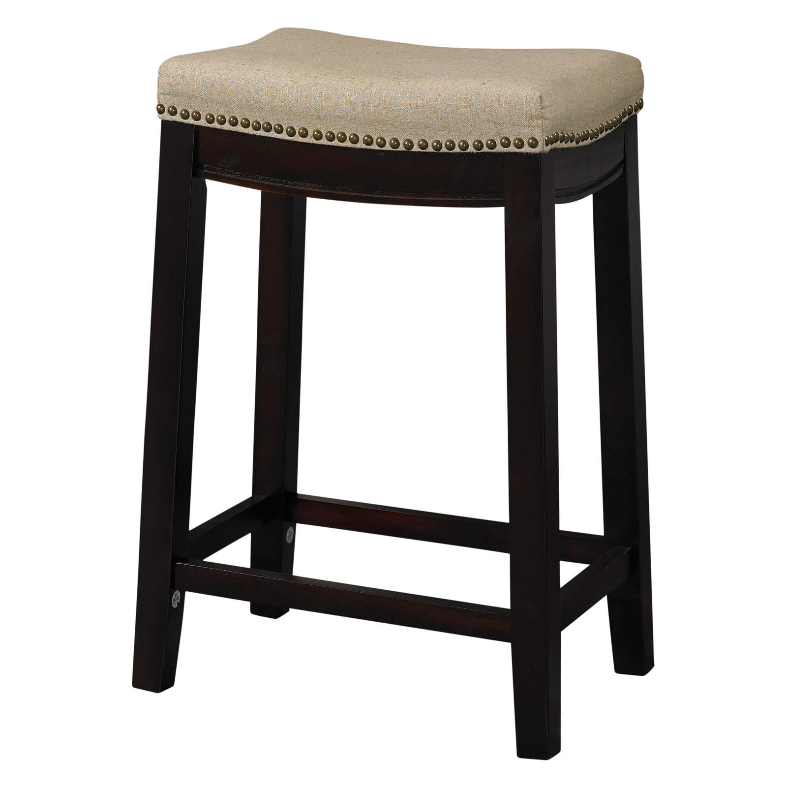 Linon Corey 30 in. Bar Stool - Udder Madness Brown | Hayneedle