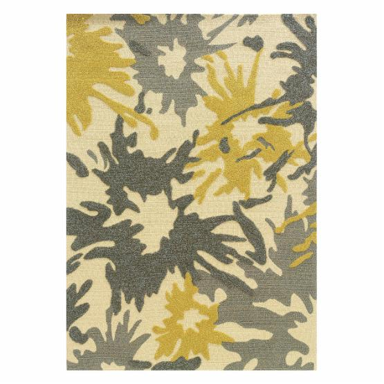 Linon Le Soleil Paint Splatter Indoor/Outdoor Area Rug