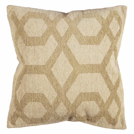 Linon Chenille Tapis Chain-Link 20 in. Decorative Throw Pillow