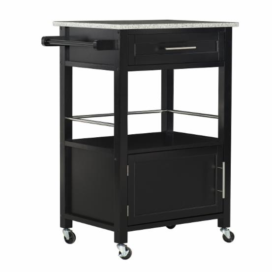 Linon Mitchell Portable Kitchen Cart