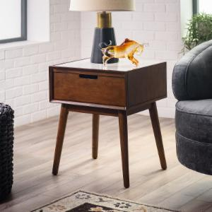 Belham Living Campbell Mid Century Modern Marble Side Table