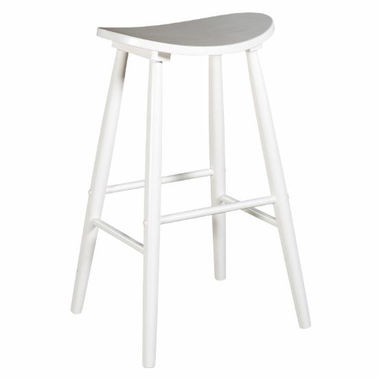 Linon Curve Backless Counter Stool - White - 24 in.