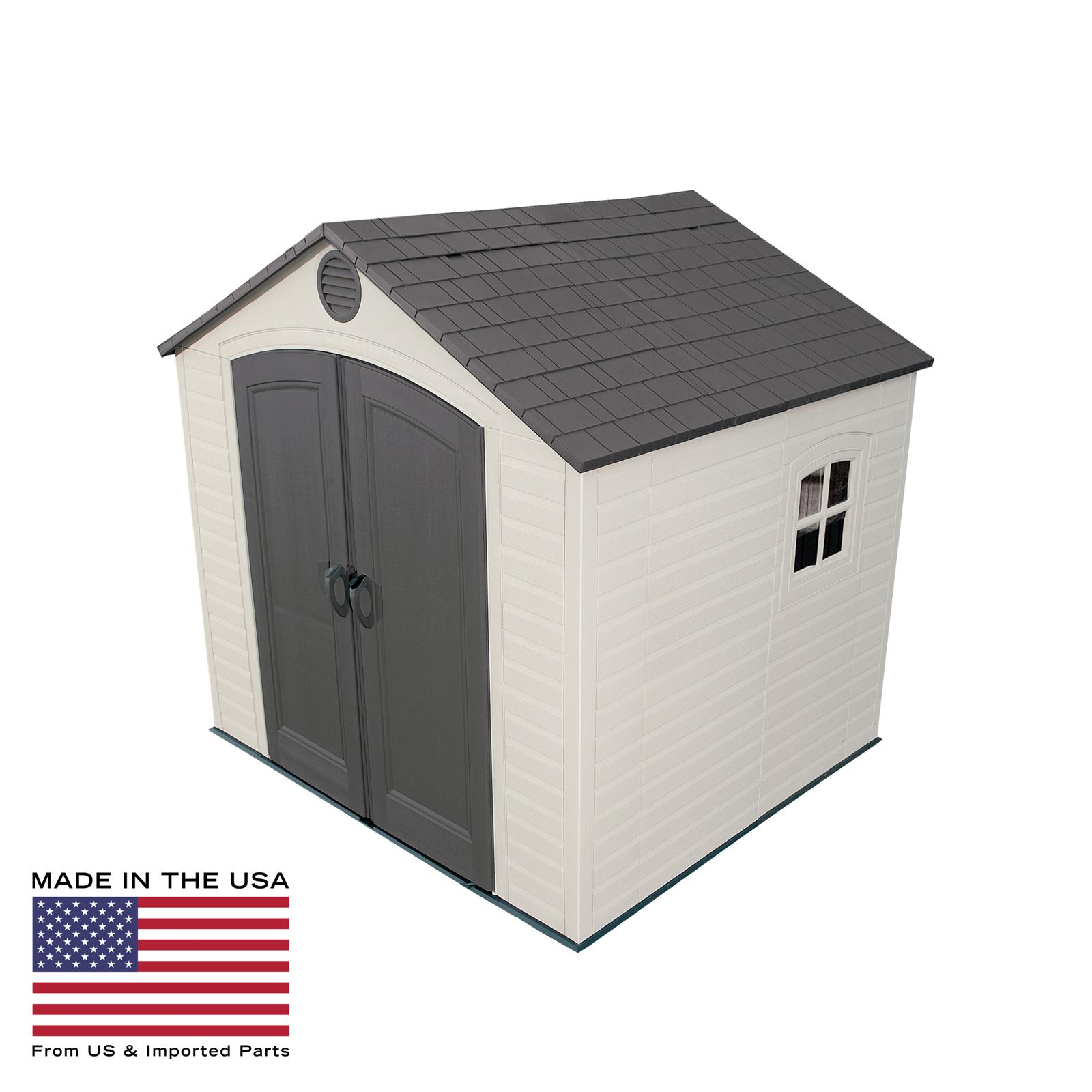 Lifetime 8 x 7.5 ft. Outdoor Storage Shed - 6411