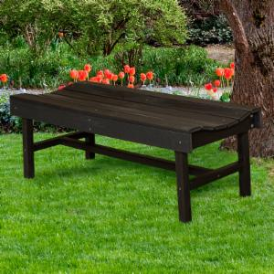 WILDRIDGE Classic Vineyard Backless Garden Bench