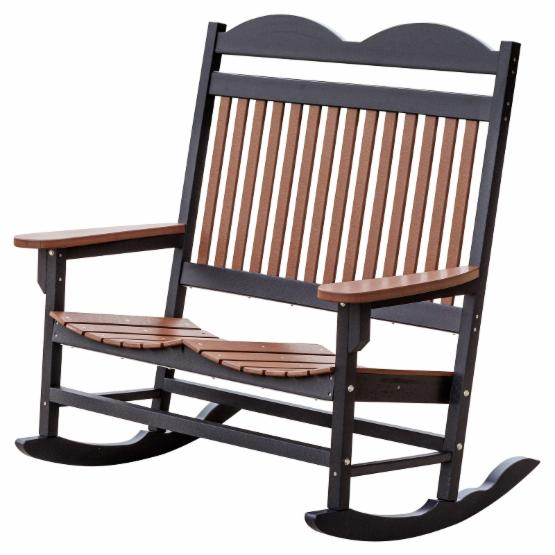 Little Cottage Heritage Traditional Patio Double Seat Plastic Rocker