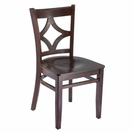 Safsil Seating Curtain Back Dining Chair with Wood Seat - Set of 2