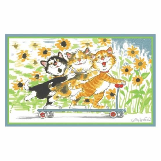 Fun Rugs Wags and Whiskers WW-04 Duckport Kitties Take A Ride Area Rug - Multicolor