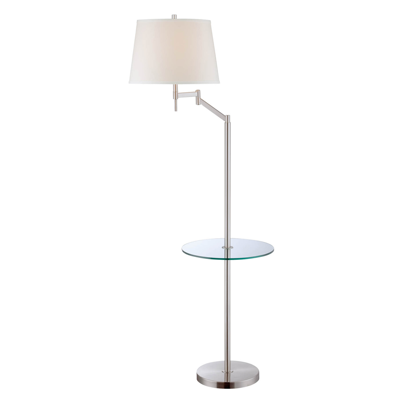 Lite Source Eveleen Swing Arm Floor Lamp With Tray