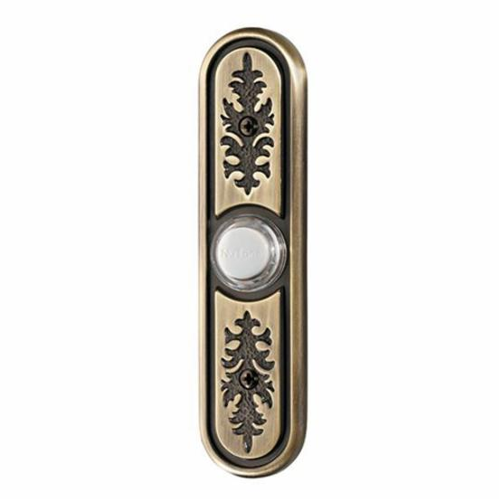 Nutone Antique Brass Textured Lighted Pushbutton