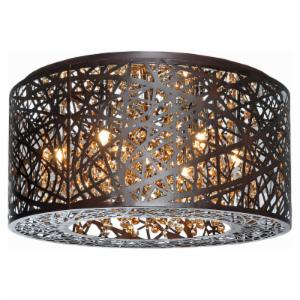 ET2 Inca E21300 7-Light Flush Mount Bronze