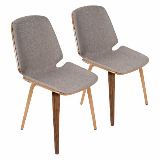 Lumisource Serena Mid-Century Modern Dining Chairs - Set of 2