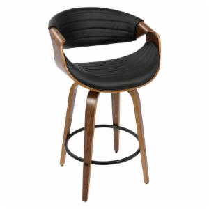 LumiSource Symphony 26 in. Mid-Century Modern Counter Stool
