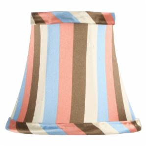 Livex S303 Multi Color Striped Silk Bell Clip Chandelier Shade