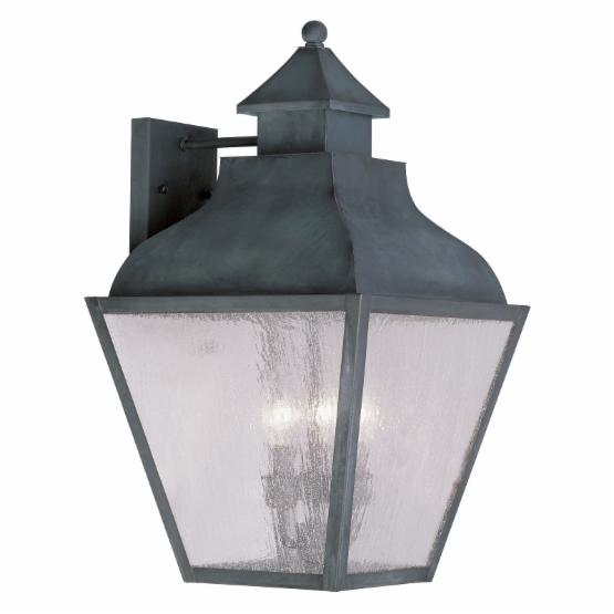 Livex Vernon 2457-61 4-Light Outdoor Wall Lantern in Charcoal