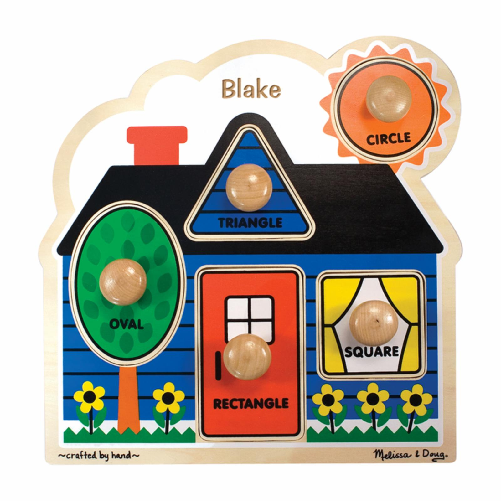Melissa and Doug Personalized First Shapes Jumbo Knob Puz...