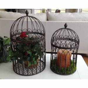 Marshall Home & Garden Victorian Bird Cage Plant Stand - Set of 2