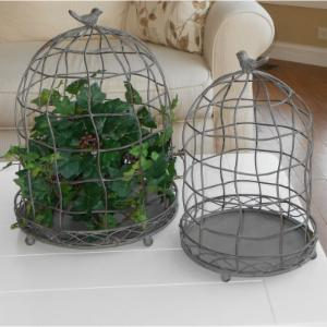 Marshall Home & Garden Bird Cage Plant Stand - Set of 2