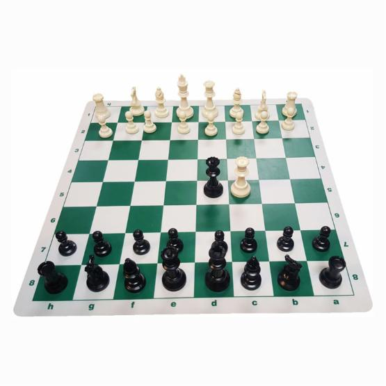 Marion Triple Weighted Chess Set with Silicone Board