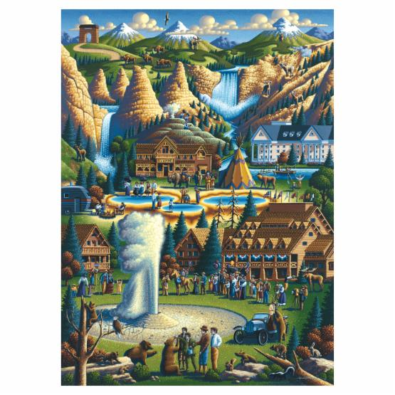 Masterpieces Suitcase Yellowstone Puzzle