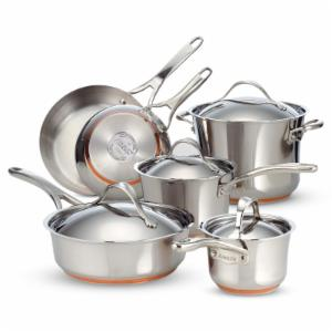 Anolon Nouvelle Stainless Steel 10 Piece Cookware Set