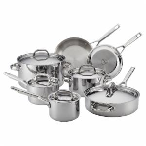 Anolon Tri-Ply Clad 12 Piece Stainless Steel Cookware Set