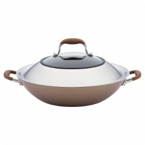 Anolon Advanced 14 in. Hard-Anodized Nonstick Covered Wok