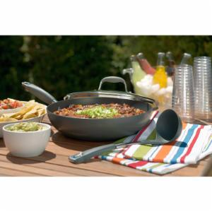 Anolon Advanced Nonstick Hard-Anodized Aluminum 12 in. Chefs Pan with Lid