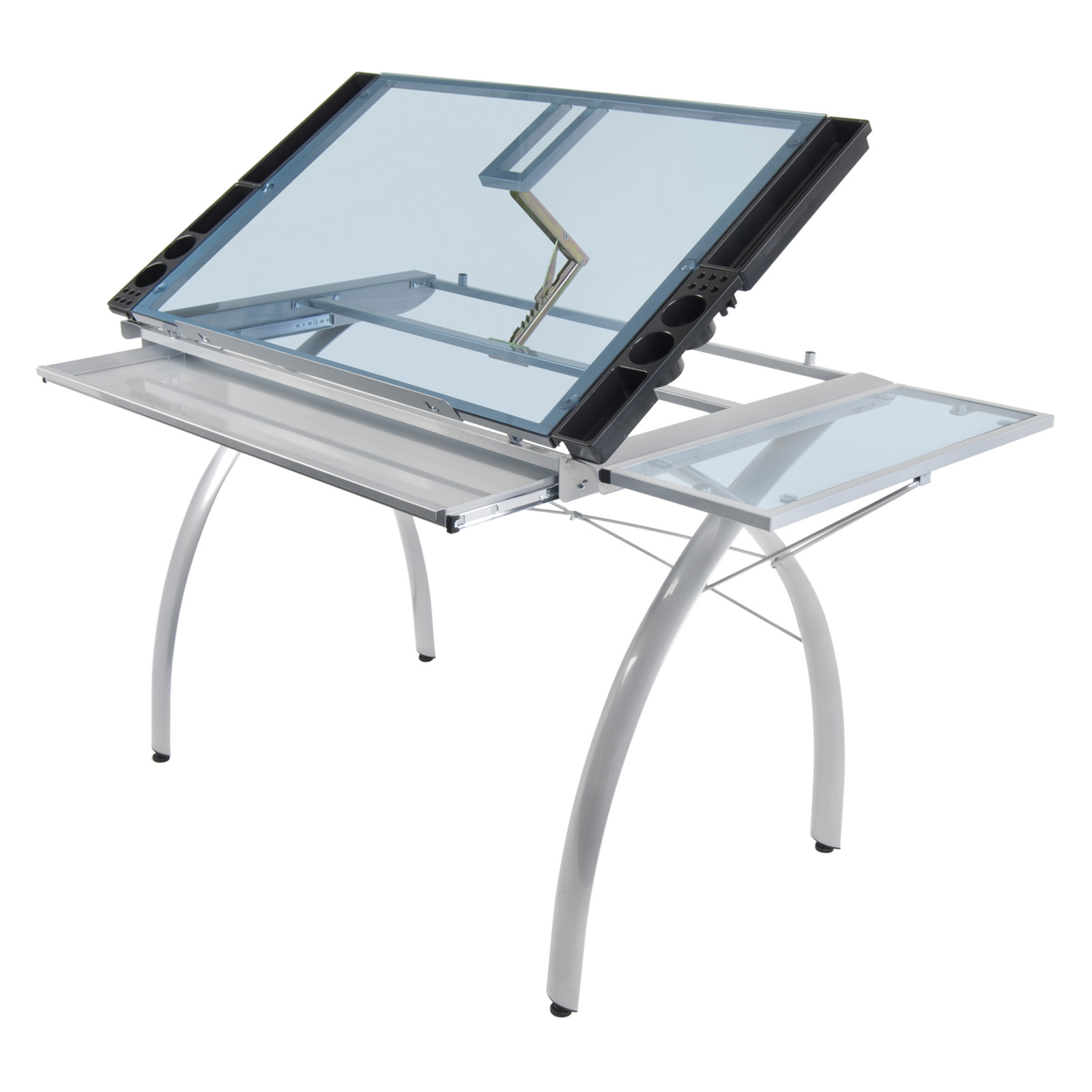 Studio Design Drafting Table studio designs futura craft station with glass top drafting drawing tables at hayneedle Studio Designs Futura Craft Station With Folding Shelf Drafting Drawing Tables At Hayneedle