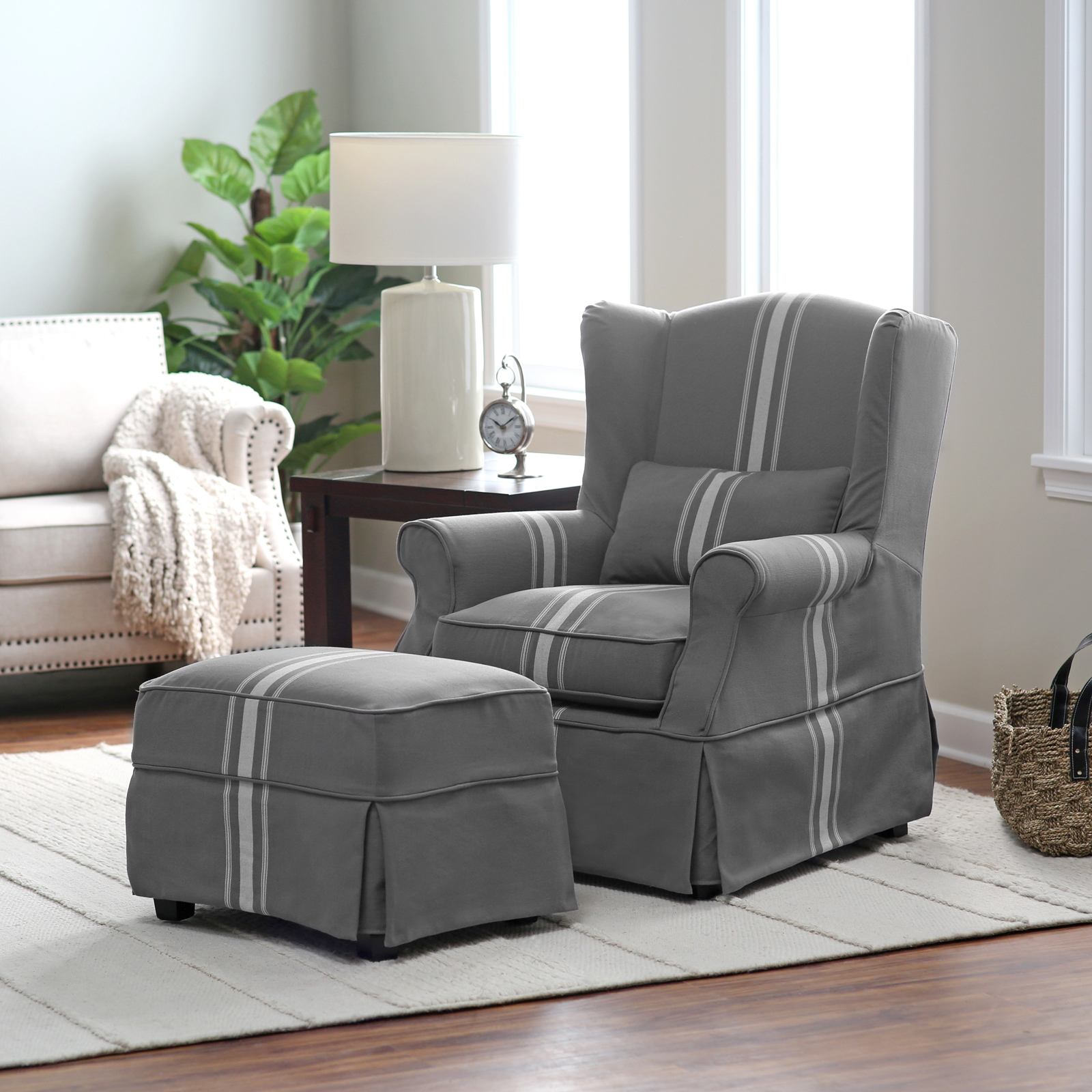 striped living room chair belham living striped arm chair and ottoman 15053