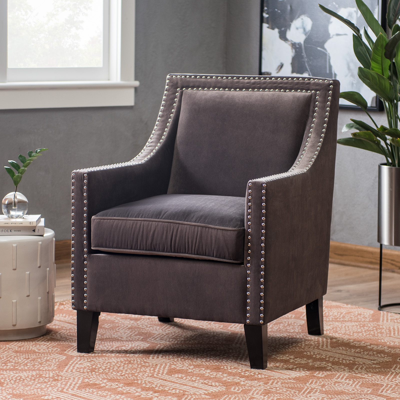 Belham Living Delaney Arm Chair   Taupe