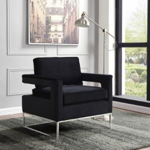 Meridian Furniture Inc Noah Velvet Accent Chair