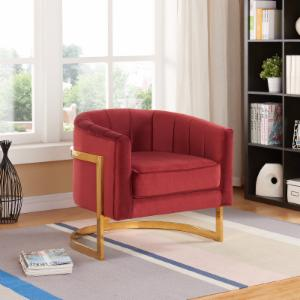 Meridian Furniture Inc Carter Velvet Accent Chair