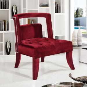 Meridian Furniture Inc Tribeca Velvet Accent Chair