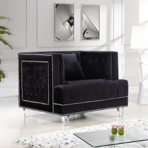 Meridian Furniture Inc Lucas Velvet Chair