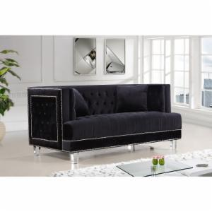 Meridian Furniture Inc Lucas Velvet Loveseat