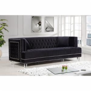 Meridian Furniture Inc Lucas Velvet Sofa
