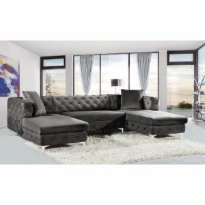 Meridian Furniture Inc 3-Piece Gail Velvet Sectional