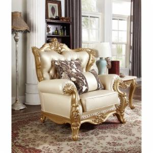 Meridian Furniture Inc Bennito Pearl Leather Chair