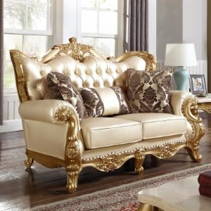 Meridian Furniture Inc Bennito Pearl Leather Loveseat