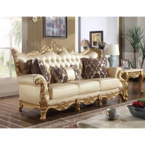 Meridian Furniture Inc Bennito Pearl Leather Sofa