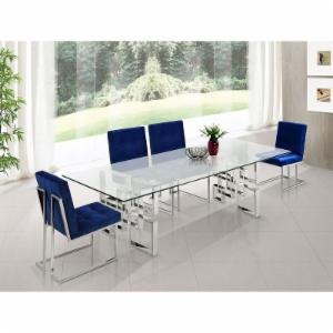 Meridian Furniture Inc Alexis Chrome Dining Table