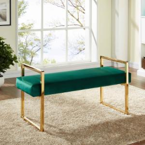Meridian Furniture Inc Olivia Velvet Bench