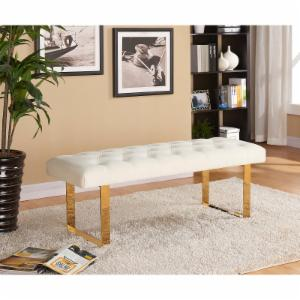 Meridian Furniture Inc Ethan Velvet Bench