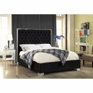 Meridian Furniture Inc Lexi Velvet Platform Bed