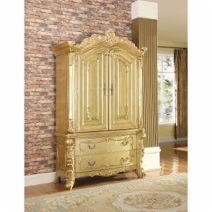 Meridian Furniture Inc Zelda Gold 2 Drawer Armoire