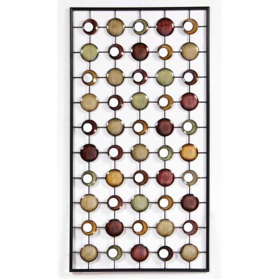 Framed Circles Metal Wall Art - 21W x 39H in.