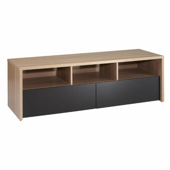 Nexera Infini-T Modular Design Your Own Storage and Entertainment System - 60 in. 2 Drawer TV Stand - Biscotti and Espresso Lacquer