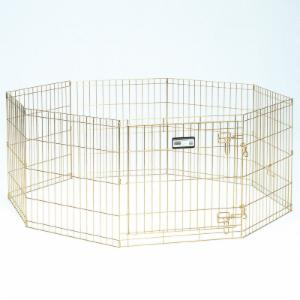 MidWest 30 in. Gold Dog Exercise Pen with Door
