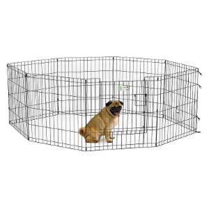 MidWest 8 Panel Black Exercise Pen with MAX Lock Door